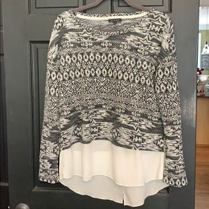 Kiara sweater with extender layers Large